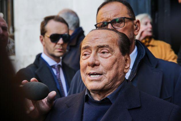 14/11/2019 Venezia, Dopo la marea record si contano i danni, Silvio Berlusconi accompagnato da Renato...