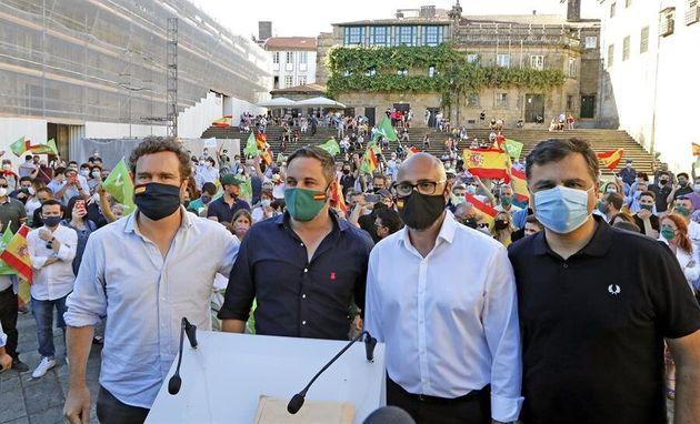 Ricardo Morado, segundo por la derecha, número uno de la lista de