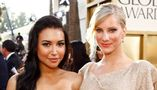 68th ANNUAL GOLDEN GLOBE AWARDS -- Pictured: (l-r) Naya Rivera, Heather Morris arrive at the 68th Annual Golden Globe Awards held at the Beverly Hilton Hotel on January 16, 2011  (Photo by Trae Patton/NBCU Photo Bank/NBCUniversal via Getty Images via Getty Images)