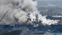 Εκρηξη σε σκάφος αμφίβιας επίθεσης του Πολεμικού Ναυτικού των ΗΠΑ - Δεκάδες