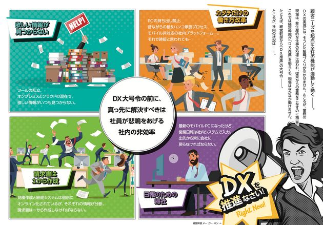 DX(デジタルトランスフォーメーション)で、何が変わる?企業の事例を見てみましょう。