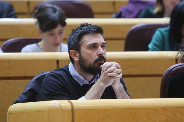 Ramón Espinar, fotografiado en el Senado el 18 de diciembre de 2018 (Ricardo Rubio/Europa Press...