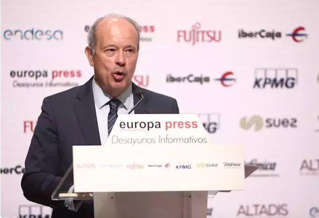 El ministro de Justicia, Juan Carlos Campo, durante uno de los Desayunos Informativos de Europa Press,...