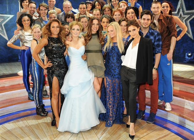 The Spice Girls with the cast of Viva