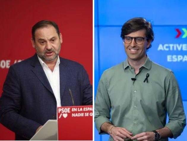 José Luis Ábalos, del PSOE, y Pablo Montesinos, del