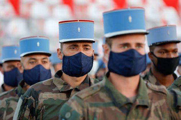 Image d'illustration - Des soldats français du 2nd régiment de dragons, durant les répétitions du défilé...
