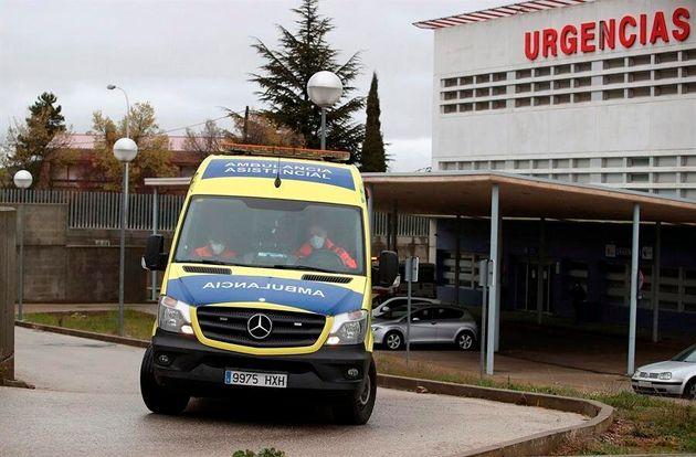 Una ambulancia en las inmediaciones del Hospital Santa Bárbara de la capital