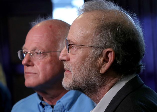 Les co-fondateurs de Ben & Jerry's Ben Cohen et Jerry Greenfield, ici à Washington le 3 septembre