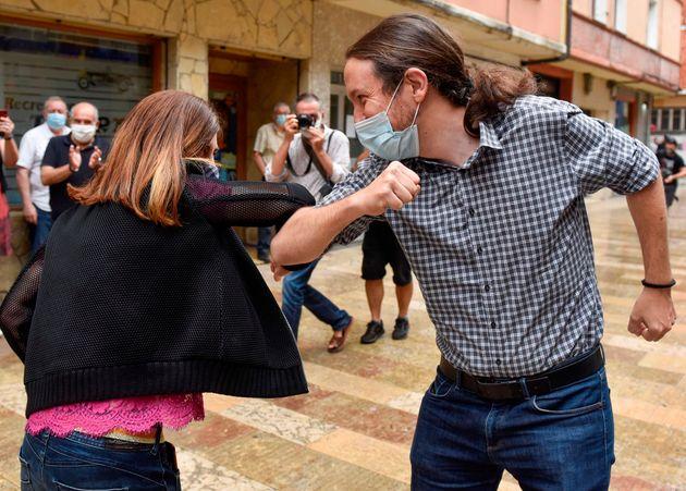 Iglesias y la candidata de Podemos en