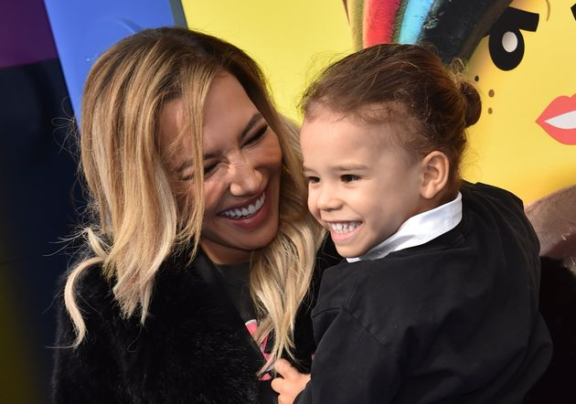 2019年2月、『レゴムービー2』の試写会を訪れたリヴェラさんと息子のジョジー・ホリス・ドーシーさん