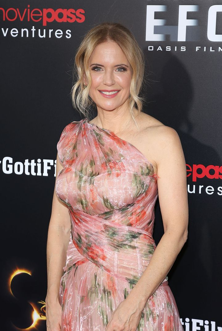 """Kelly Preston at the New York Premiere of """"Gotti"""" at SVA Theater on June 14, 2018 in New York City."""