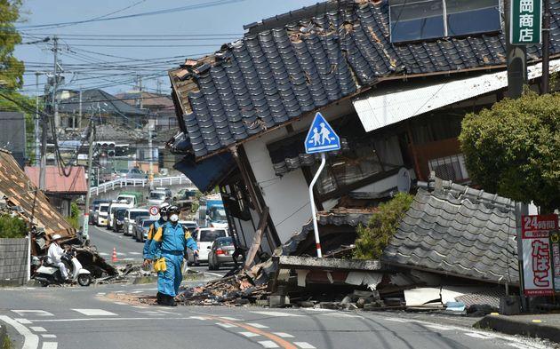 熊本地震での益城町の被害
