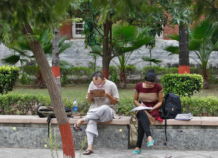 File photo of students on Delhi University campus.