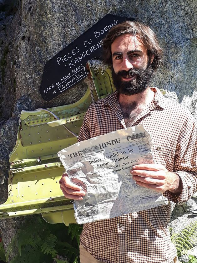 Thimotee Mottin, manager of the cafe-restaurant Cabane du Cerro near the Bossons glacier, poses on July...