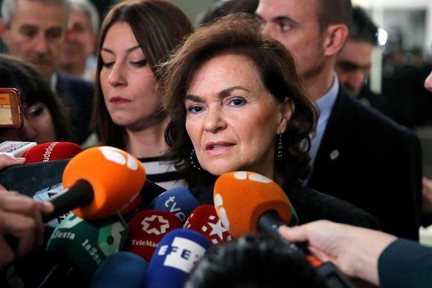 Carmen Calvo, vicepresidenta primera del