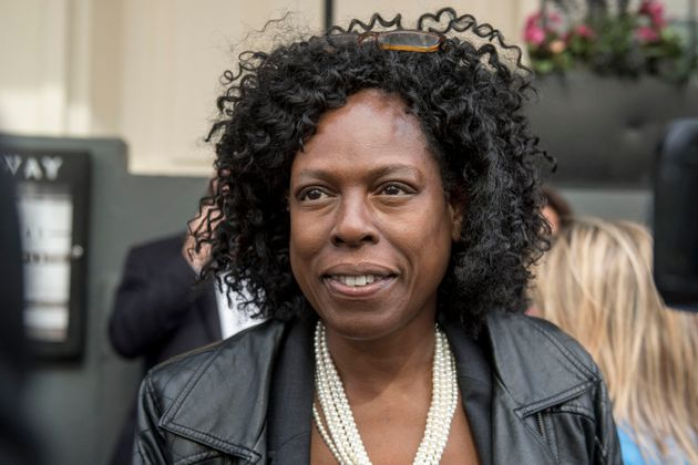 Yvette Williams, co-founder of Justice4Grenfell, at the Grenfell Tower public
