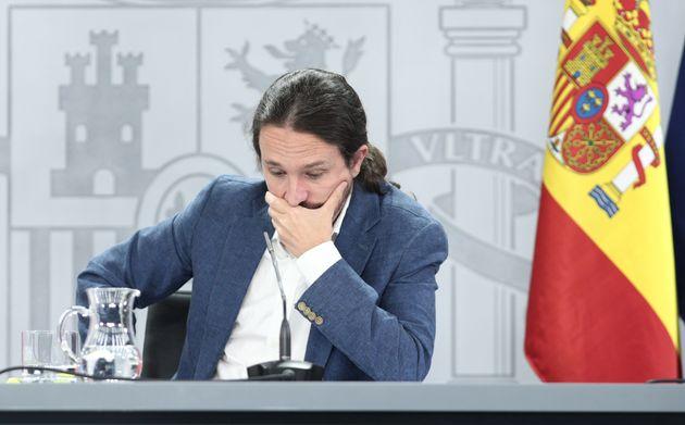 El vicepresidente Pablo Iglesias, el 7 de julio de 2020 en La Moncloa (EUROPA PRESS/E. Parra. POOL/Europa...