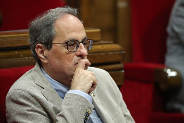 Quim Torra, en el Parlament el 7 de julio de 2020 (Joan Valls/Urbanandsport /NurPhoto via Getty