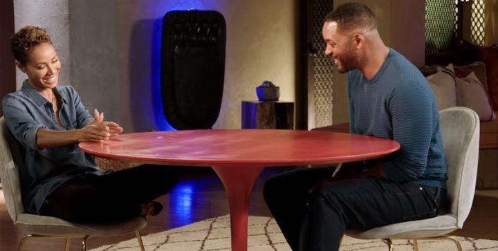 Jada Pinkett y Will Smith durante la entrevista el viernes pasado en el programa 'Red Table Talk'.
