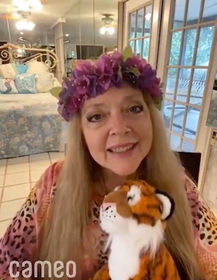 Carole Baskin in her Cameo video