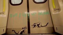 Banksy se cuela en el metro de Londres para su última