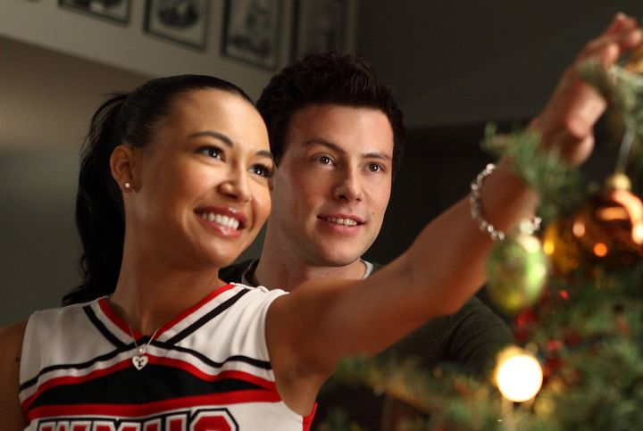 """Naya Rivera and Cory Monteith in a Season 2 episode of """"Glee."""""""