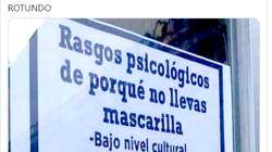 El cartel que describe con tres duras frases a los que no se ponen