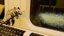 Banksy Scrawls Sneezing Rats On London Underground In Face Mask-Themed
