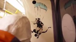 Banksy défend le port du masque dans le métro de