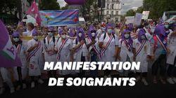 Des milliers de manifestants ont défilé à Paris pour l'hôpital public (avec quelques