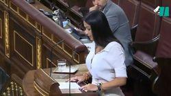 Una diputada de Vox se indigna con la ministra Ribera por lo que estaba haciendo mientras ella