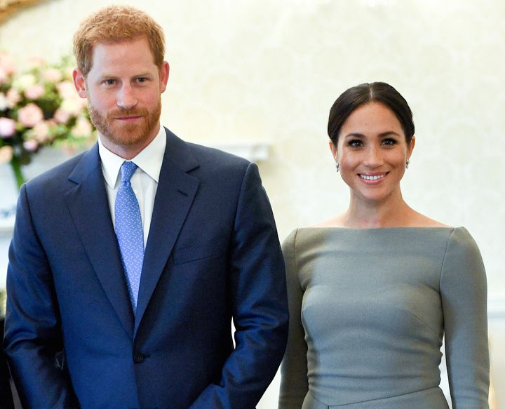 Prince Harry and Meghan, Duchess of Sussex in Dublin during a royal visit to Ireland in 2018. At the time, they wouldn't have been allowed to explicitly talk politics.