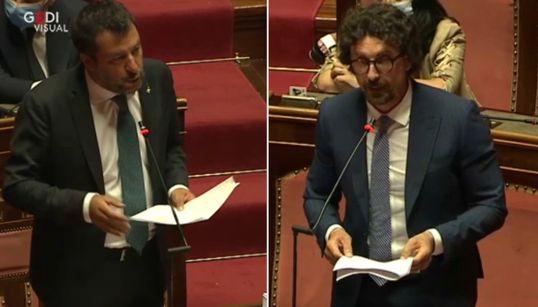 """Salvini: """"Basta terrorizzare gli italiani"""". Toninelli replica: """"Sei un vile"""""""