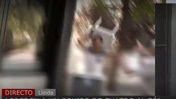 Agreden a unos periodistas de 'Cuatro' en Lleida mientras informaban del