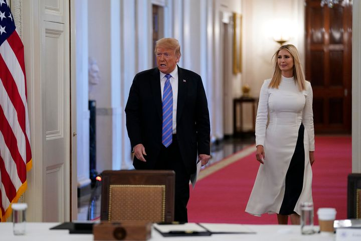 President Donald Trump and his daughter Ivanka: not actually helpful.
