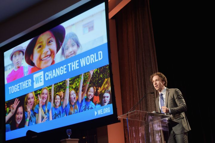 Craig Kielburger, co-founder of WE Day, Free The Children and ME to WE, speaks onstage during the WE Day Celebration Dinner at The Beverly Hilton Hotel on April 6, 2016 in Beverly Hills, California.