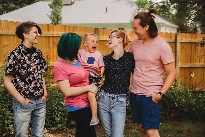 Love and Brandon Gwaltney with their kids.