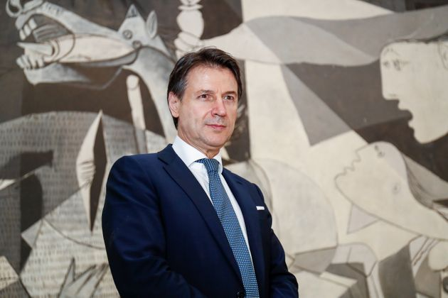 MADRID, SPAIN - JULY 08: The Italian Prime Minister, Giuseppe Conte during their visit to the Museo Nacional...