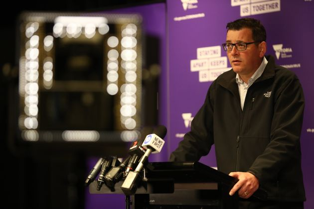 Victorian Premier Daniel Andrews speaks to the media during a press conference on July 15, 2020 in Melbourne,