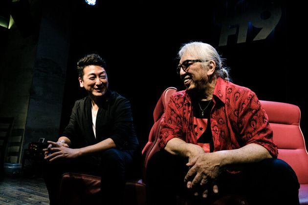 ジャーナリストの堀潤さん(左)と頭脳警察のPANTAさん(右)