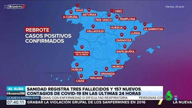 Los errores en el mapa de España en