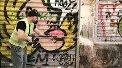 Δήμος Αθηναίων: Μεγάλη αντιγκράφιτι παρέμβαση σε όλη την οδό