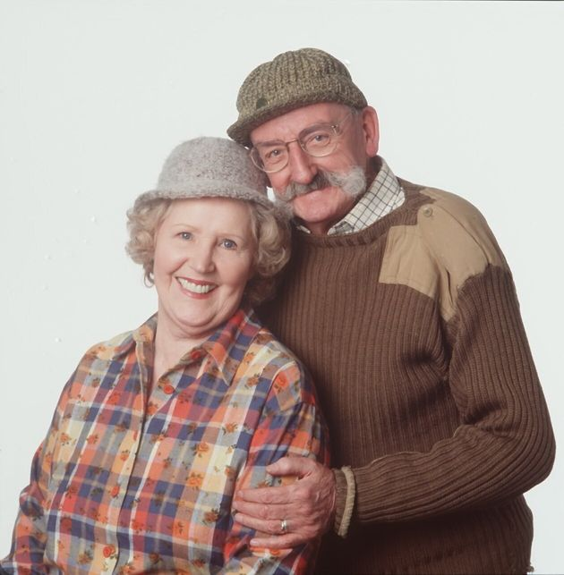 Paula with co-star Stan Richards, who died in