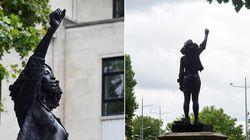 Estátua de escravagista é substituída por uma de manifestante negra no Reino