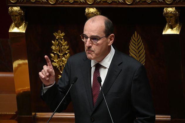 Jean Castex lors de son discours de politique générale à l'Assemblée