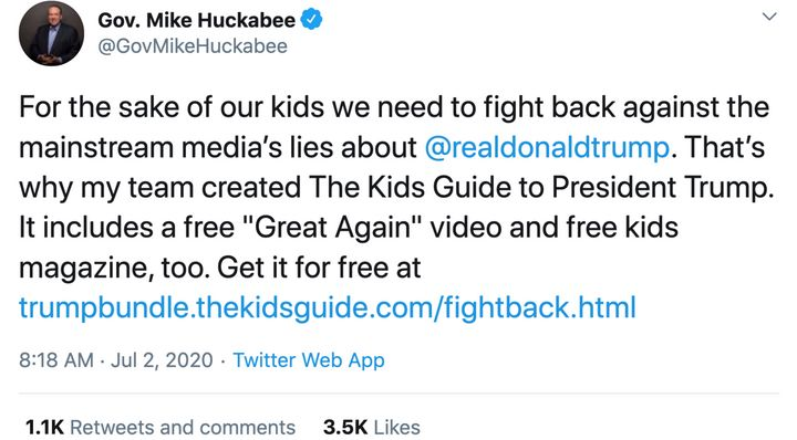 Mike Huckabee co-founded Learn Our History in 2011, in between his two presidential campaigns.