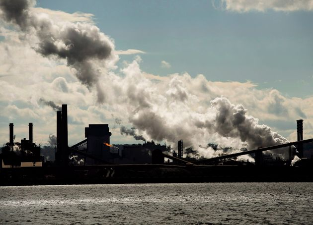 The steel mills in the Hamilton waterfront harbour are shown in Hamilton, Ont., on October 23, 2018....