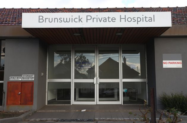 A general view of the Brunswick Private Hospital on July 15, 2020 in Melbourne,