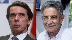Críticas a Aznar y Revilla por las mascarillas que han llevado en el homenaje de
