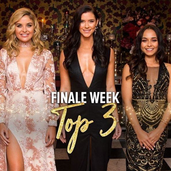 First Nations contestant Brooke Blurton (R) did make the final 3 on The Bachelor in